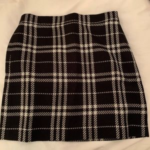 NWT black and white j,crew skirt